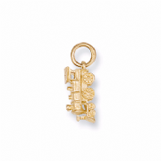 9ct Gold steam train pendant 1.5g